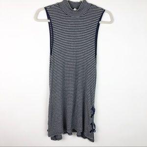 Cable & Gauge Sleeveless Mini Dress High Neck